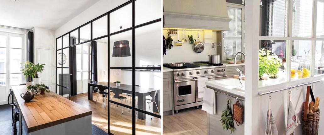 Paredes de cristal para cocinas peque as portal inmobiliario - Cocinas con pared de cristal ...
